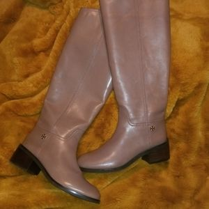 Tory Burch Taupe Fulton Boots